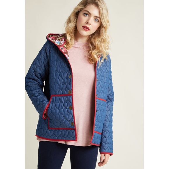 a5a340f74ea ModCloth Heart Quilted Coat